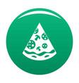 pizza slice icon green vector image vector image