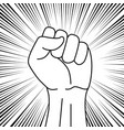 protest symbol power sign vector image