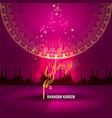 ramadan kareem greetings design vector image vector image