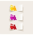 realistic design element childrens train vector image vector image