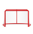 realistic ice hockey goal with net vector image vector image
