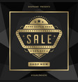 sale banner template design with gold frame vector image