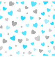 seamless pattern white background with blue and vector image vector image