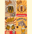 set beer pub posters design element for poster vector image vector image