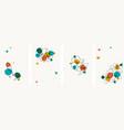 set creative minimalist hand draw floral vector image vector image