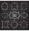 Set of 9 cute vintage chalk frames vector image vector image
