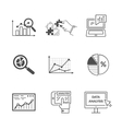 Set of Black Icons Data Analysis vector image vector image