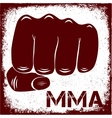 sign MMA vector image vector image