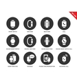 Smartwatch icons on white background vector image vector image