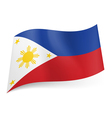 State flag of Philippines vector image vector image