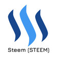 steem steem crypto coin ic vector image vector image