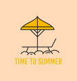 summer concept linear design with beach vector image vector image
