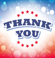thank you banner on celebration background 1 vector image vector image