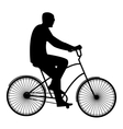 The man in black glasses riding a bike flat style vector image vector image