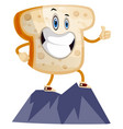 toast on mountain on white background vector image vector image
