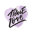 true love writing - valentine lettering text vector image vector image