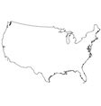 USA out line map vector image vector image