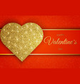 valentine day greeting card festive card for vector image vector image