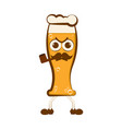 vintage angry beer cartoon character vector image vector image