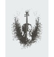 violin with floral patterns vector image vector image