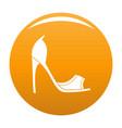 woman shoes icon orange vector image
