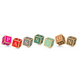 Word PASSION written with alphabet blocks vector image vector image