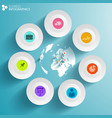 world business infographics vector image