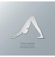 Yoga asanas Adho Mukha Svanasana vector image