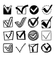 Check Boxes Set vector image