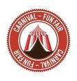 entertainment carnival funfair banner vector image