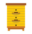 apiary honey hive in flat style vector image