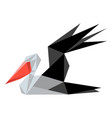 abstract low poly pelican icon vector image vector image