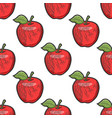 apple seamless pattern sketch vector image vector image