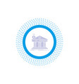 architecture bank banking building federal glyph vector image vector image