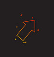 arrow right up icon vector image vector image