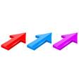 arrows diagonal 3d web icons vector image vector image