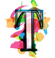 Artistic Font - Letter T vector image vector image