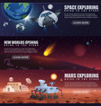 banners of space flight vector image vector image