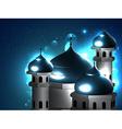 beautiful islamic mosque vector image vector image