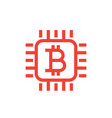 bitcoin icon linear style vector image vector image
