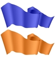 Blue and Orange Ribbons Isolated vector image vector image