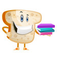 bread with books on white background vector image vector image