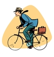 businessman riding bicycle business people concept vector image