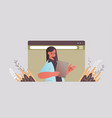 businesswoman chatting during video call business vector image vector image