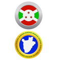 button as a symbol BURUNDI vector image vector image