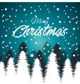 card greeting christmas snowfall with tree white vector image