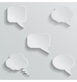 Chat bubbles - paper cut design White color on vector image vector image