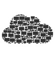 cloud mosaic of computer display icons vector image