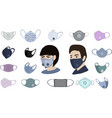 colorful air face mask isolated for man and woman vector image