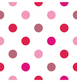 Colorful big pink red polka dots background vector image vector image